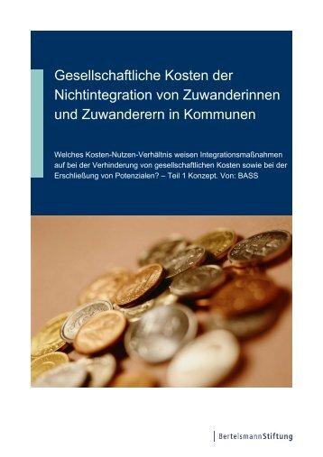 Gesellschaftliche Kosten der Nichtintegration von ... - BASS