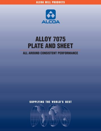 ALLOY 7075 PLATE AND SHEET - Alcoa