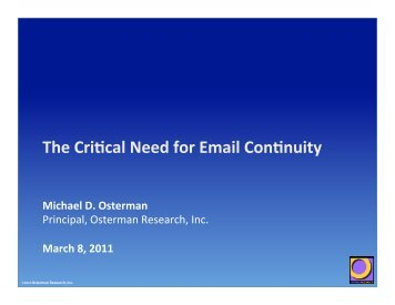 OR Presentation for Quest email continuity Webinar, draft 4.pptx
