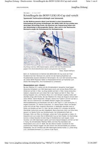Leki Cup Final - Bödeli Skiteam