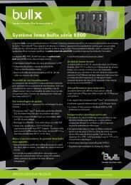 d'informations sur les systèmes lames bullx