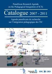 The PanAf Publications Catalogue / Le catalogue des publications ...