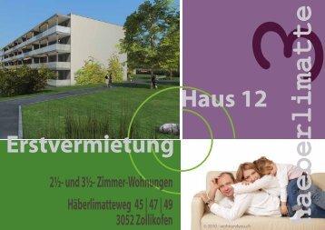 Grundriss - Wohnüberbauung Haeberlimatte