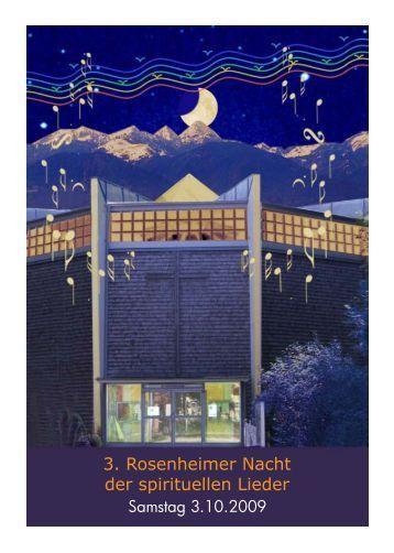 3. Rosenheimer Nacht der spirituellen Lieder - Licht-Reise ...