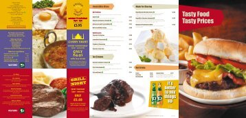 Tasty Food Tasty Prices - Marston's Taverns