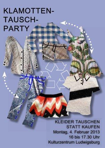 KLAMOTTEN- TAUSCH- PARTY - Lokale Agenda Ludwigsburg
