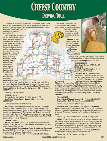 Cheese Country - Hidden Valleys of Southwestern Wisconsin