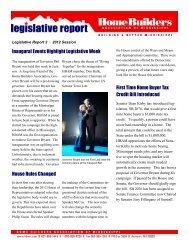Legislative Bulletin 2 - Home Builders Association of Mississippi