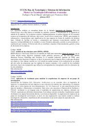 UCLM, Dep. de Tecnologías y Sistemas de ... - Grupo Alarcos