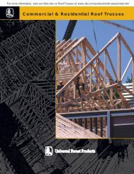 Roof Trusses Brochure (PDF - 593 KB) - Universal Forest Products