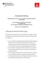 Erklärung der IG Metall und des Bundesumweltministeriums zu den ...