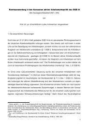 1 Rechtsanwendung in den Kernzonen aktiver Arbeitsmarktpolitik ...