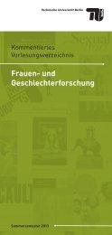 und Geschlechterforschung an der TU Berlin (PDF, 2,8 MB)