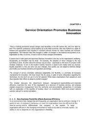 Service Orientation Promotes Business Innovation