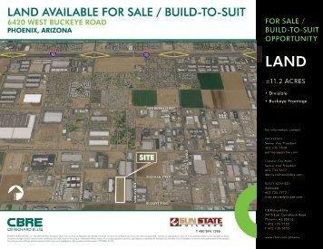 Land avaiLabLe for SaLe / buiLd-to-Suit - Sun State Builders