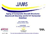 Aging of Composite Aircraft Structures - Joint Advanced Materials ...