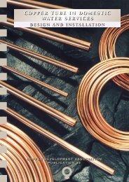 Pub 33 Copper Tube in Domestic Water Services