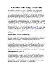 Merit Badge Counselors List - BSA Meridian District