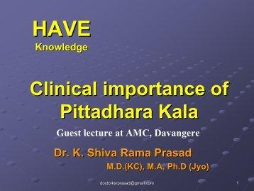 Pittadhara Kala - Techno Ayurveda
