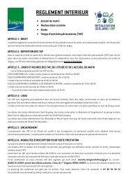 Téléchargez le règlement intérieur relatif à l'accueil du ... - Joigny