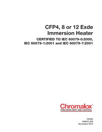chromalox heater wiring diagram chromalox image cfp4 8 or 12 eexde immersion heater chromalox precision on chromalox heater wiring diagram