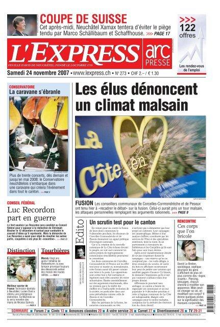 L Impartial Samedi 24 Novembre 2007 Arcinfo Ch