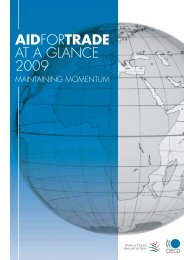 AIDFORTRADE AT A GLANCE 2009 - World Trade Organization