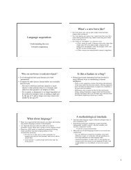 Language acquisition: What's a new born like? Is this a feature or a ...