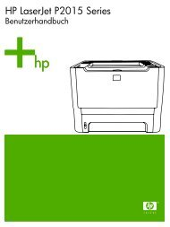 HP LaserJet P2015 Series Printer User Guide ... - Hewlett Packard