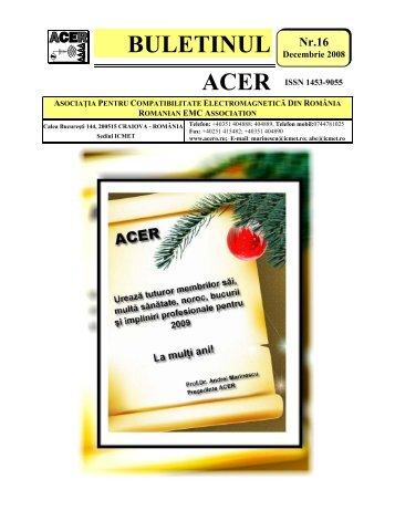 BULETINUL - ACER-Asociatia pentru Compatibilitate ...