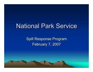 National Park Service - U.S. National Response Team (NRT)
