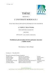 Les sources de bruits laser et leurs origines - Université Bordeaux 1