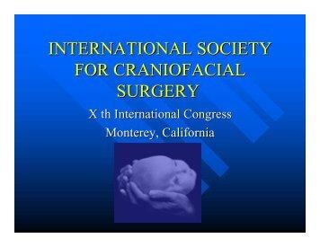 international society for craniofacial surgery - ProSites