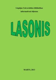 lasonis - Liepājas Universitāte