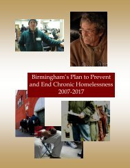 Birmingham's Plan to Prevent and End Chronic Homelessness