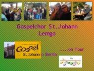 Präsentation (PDF, 3.7 MB) - Gospelchor St.Johann