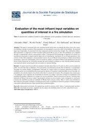 Journal de la Société Française de Statistique Evaluation of the ...