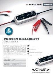 Ctek Battery Charger Instructions & Information