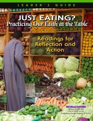Just Eating Leaders Guide - United Church of Christ