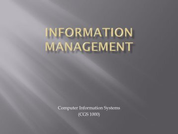 Information Management - Tiona Consulting