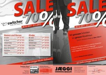 an der « Einkaufsmeile Siebnen » 60 Jahre ... - Jaeggi Mode  AG