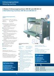 2-Walzen Enthaarungsmaschinen JWE 80 und ... - jwe-gmbh.com