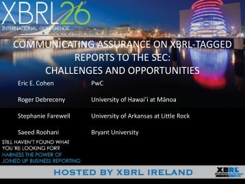 ACDM10. Communicating Assurance On XBRL-Enabled Financial ...