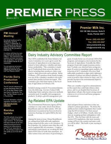 March - Premier Milk, Inc.