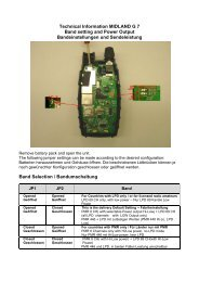 Power setting - Leistungseinstellung mit JS 3 - Diesnerfunk