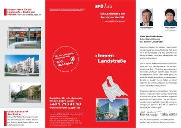 Viertelskonzept Innere Lanstrasse - SPÖ Landstrasse