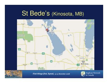 St Bede's (Kinosota, MB) - Anglican Network in Canada