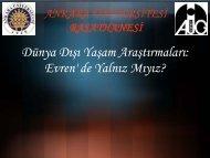 Evrende Yanlız mıyız? (Sunu) - Ankara Üniversitesi Gözlemevi