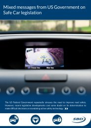 Mixed messages from US Government on Safe Car legislation - SBD