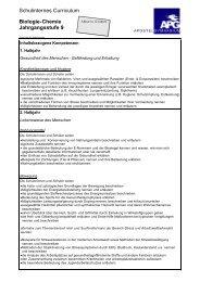 Biologie/Chemie Diff. Klasse 9 - Apostelgymnasium